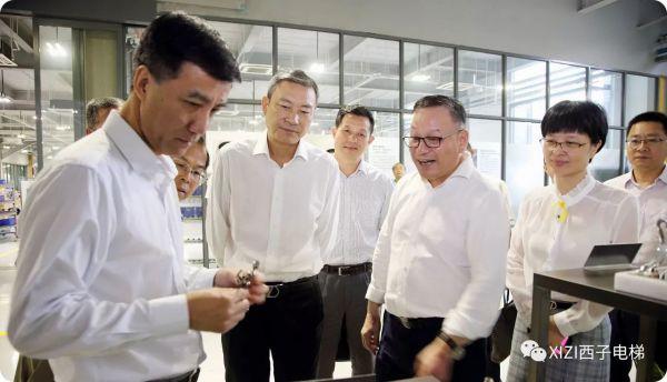 杭州市副市长缪承潮一行调研西子电梯